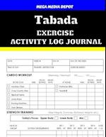 Tabada Exercise Activity Log Journal