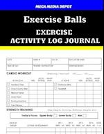 Exercise Balls Exercise Activity Log Journal