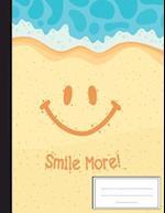 Emoji Smile More Sand Beach