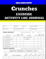 Crunches Exercise Activity Log Journal