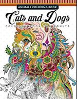 Cats and Dogs Coloring Books for Adutls
