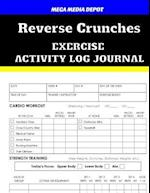 Reverse Crunches Exercise Activity Log Journal
