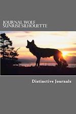Journal Wolf Sunrise Silhouette