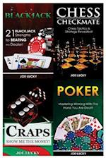 Blackjack & Chess Checkmate & Craps & Poker