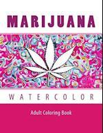 Marijuana Watercolor Adult Coloring Book