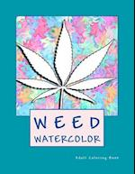 Weed Watercolor Adult Coloring Book