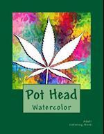 Pot Head Watercolor Adult Coloring Book