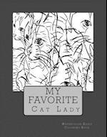 My Favorite Cat Lady Watercolor