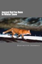 Journal Red Fox Runs in Winter Snow