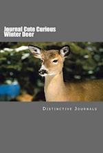 Journal Cute Curious Winter Deer