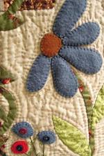 Pretty Applique Flowers on a Cream Quilted Background Ornamental Needlework Journal af Cs Creations