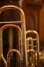 Brass Trombone Up Close Portrait Musical Instrument Journal
