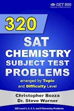 320 SAT Chemistry Subject Test Problems Arranged by Topic and Difficulty Level