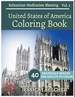 United States of America Coloring Book for Adults Relaxation Vol.3 Meditation