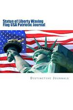 Statue of Liberty Waving Flag USA Patriotic Journal