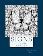 Sign from Heaven Adult Coloring Book
