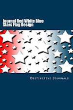 Journal Red White Blue Stars Flag Design