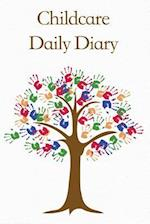 Childcare Daily Diary, Brown Hand Print Tree