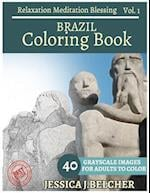 Brazil Coloring Book for Adults Relaxation Vol.1 Meditation Blessing