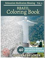 Brazil Coloring Book for Adults Relaxation Vol.2 Meditation Blessing