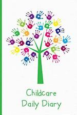 Childcare Daily Diary, Hand Print Tree