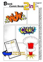 Blank Comic Book 2-In-1. Staggered & Strip