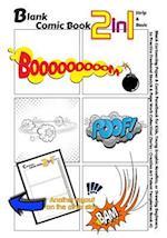 Blank Comic Book 2-In-1. Strip & Basic