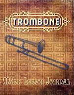 Trombone Music Lesson Journal