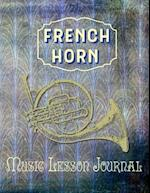 French Horn Music Lesson Journal