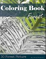 Forest 30 Pictures, Sketch Grey Scale Coloring Book for Kids Adults and Grown Ups