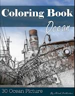 Ocean 30 Pictures, Sketch Grey Scale Coloring Book for Kids Adults and Grown Ups
