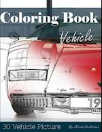 Vehicle 30 Pictures, Sketch Grey Scale Coloring Book for Kids Adults and Grown Ups