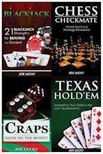 Blackjack & Chess Checkmate & Poker & Craps & Texas Holdem