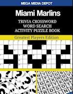 Miami Marlins Trivia Crossword Word Search Activity Puzzle Book
