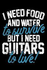 I Need Food and Water to Survive But I Need Guitars to Live