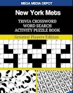 New York Mets Trivia Crossword Word Search Activity Puzzle Book