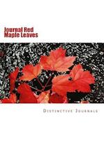 Journal Red Maple Leaves