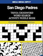 San Diego Padres Trivia Crossword Word Search Activity Puzzle Book