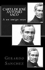 Carta de Jose Antonio Saco
