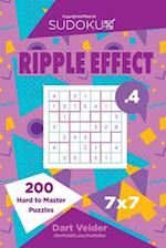 Sudoku Ripple Effect - 200 Hard to Master Puzzles 7x7 (Volume 4)