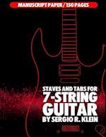Staves and Tab Paper for 7-String Guitar