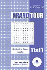 Sudoku Grand Tour - 200 Hard to Master Puzzles 11x11 (Volume 6)