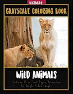 Wild Animals Grayscale Coloring Book