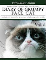 Diary of Grumpy Face Cat-Funny Animal Coloring Book for Cat Lovers