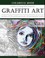 Graffiti Art-Art Therapy Coloring Book Greyscale