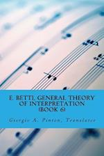 E. Betti, General Theory of Interpretation