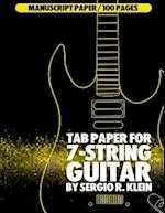 Tab Paper for 7-String Guitar
