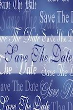Wedding Journal Save the Date Blue