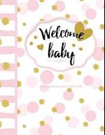 Baby Shower Guest Book with Gift Log
