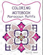 Coloring Notebook - Moroccan Motifs